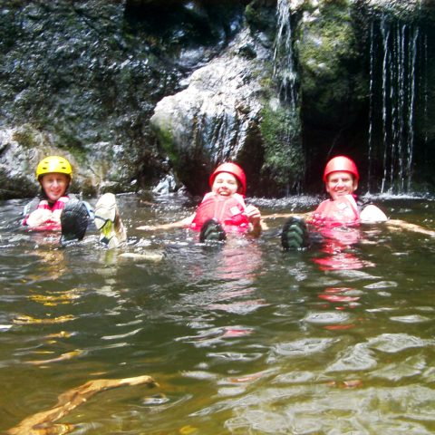 Gorge Scrambling course in Snowdonia, North Wales